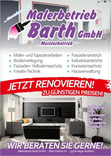 malerbetrieb barth haigerseelbach malerarbeiten anstricharbeiten lackierarbeiten. Black Bedroom Furniture Sets. Home Design Ideas